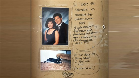Couple Finds Funny Hidden Messages From Home's Former Owners!
