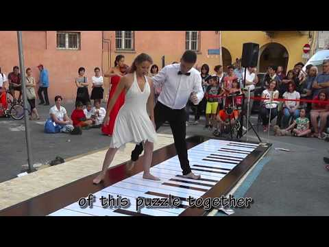 Amazing Giant Piano Played Skillfully With Feet