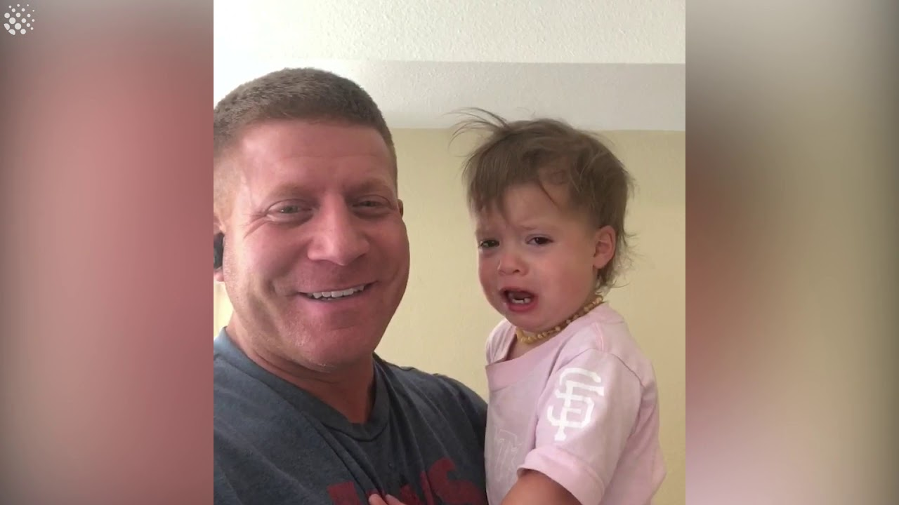 Dad Finds A Way To Get Daughter To Stop Crying