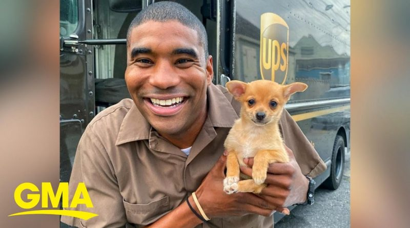 UPS Driver Takes Selfish With Dogs On His Route 🐕 🚚